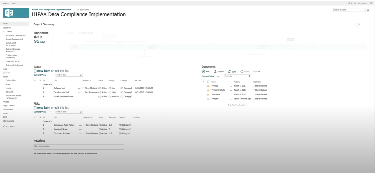 Document Collaboration in Project Online with SharePoint